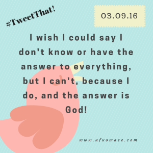 The Answer is God