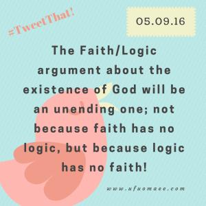 Logic has no faith