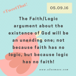 Logic has no faith